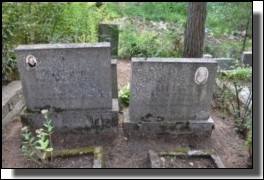 Tombstones in the Jewish cemetery of Daugavpils.August 2009