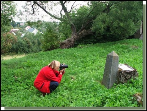 Me photographying a tombstone. August2009