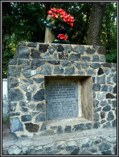 Memorial at the murder site in Ternovka